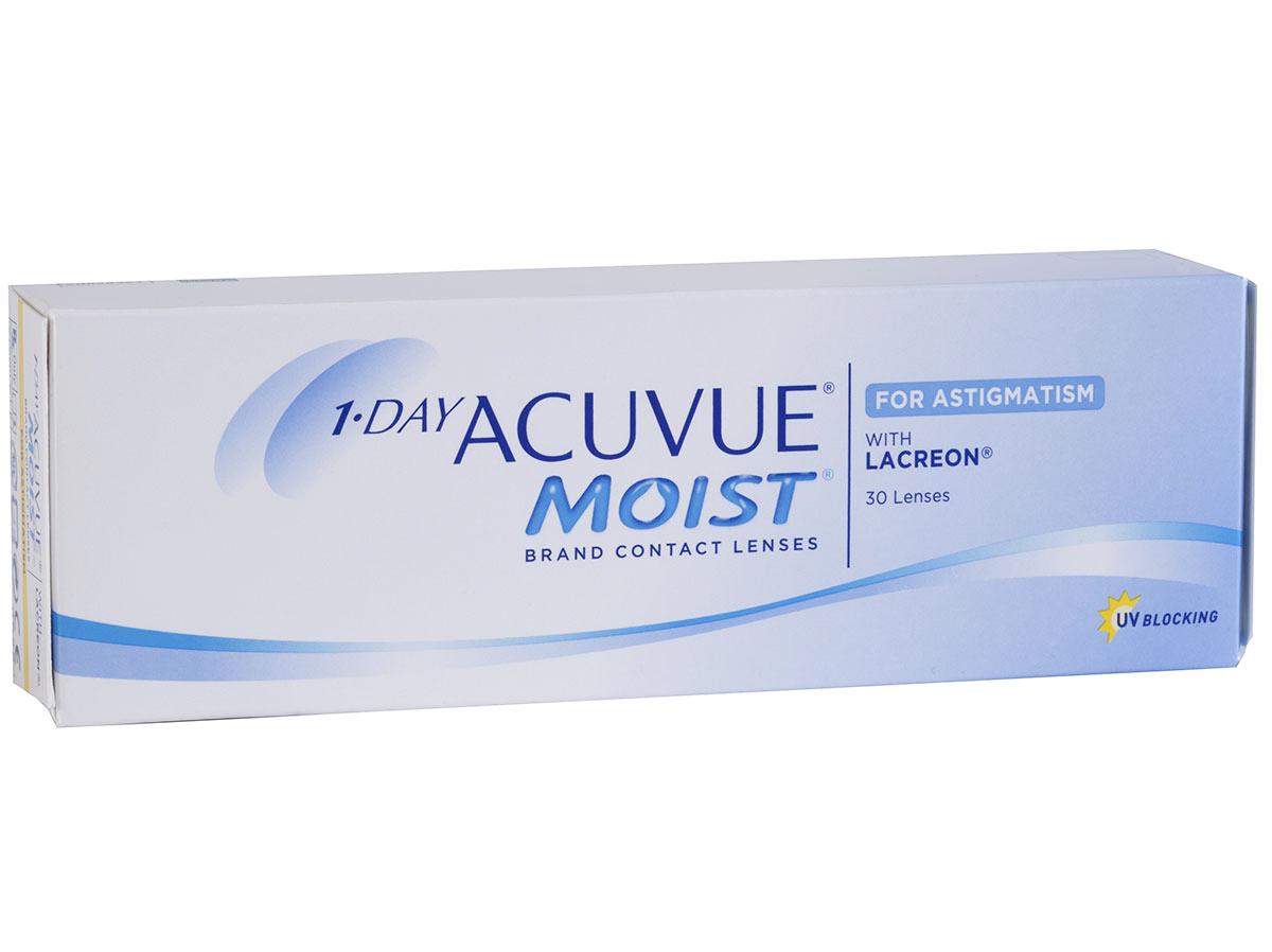 1 DAY ACUVUE MOIST FOR ASTIGMATISM 30 lenses pack